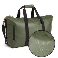 85 DavidMartin Bags Travelbag Let's Get Lost, Dark Olive Green
