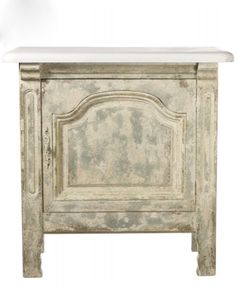 Kitchen Pastry Table with Marble Top – Allissias Attic & Vintage French Style