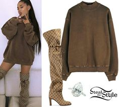 Ariana Grande Outfits Casual, Casual Outfits, Cute Outfits, Celebrity Outfits, Celebrity Style, Girl Fashion, Fashion Outfits, Fashion Tips, Ariana Grande Pictures