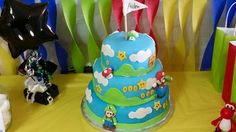 7th Birthday, Birthday Cake, Party Themes, Mario, Desserts, Food, Birthday Cakes, Meal, Deserts