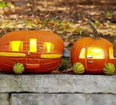 Great jack-o-lanterns for glampers