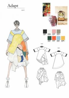ARTS THREAD Portfolios - ARTS THREAD Fashion Portfolio Layout, Fashion Design Sketchbook, Fashion Illustration Sketches, Fashion Sketches, Portfolio Design, Dress Sketches, Design Illustrations, Medical Illustration, Art Sketchbook