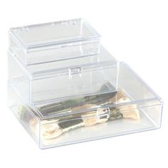 The Container Store > Clear Square Hinged Boxes