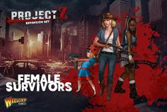 The 'Female Survivors' expansion contains 10 female survivors plus the weapons options sprue for more variety.