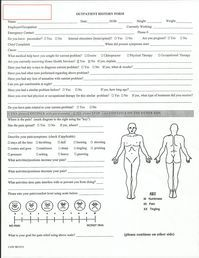 Evaluation Physical Therapy Evaluation Form Physical Therapy