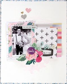 My take on the truly gorgeous JOT march mood board ... #jotmagazine #jotmagazinemoodboardchallenge #jotgirl #scrapbooking #moodboard
