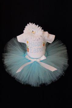Happy Easter Tutu Set - Babys 1st Easter Bodysuit - My First Easter Outfit - Easter Flowers Tutu Set - Easter Bunny  - EAHP1519 by EleventhHourDesigns on Etsy https://www.etsy.com/listing/222612727/happy-easter-tutu-set-babys-1st-easter