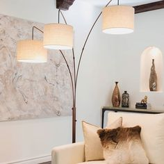 We have solution for every corner. Trilage 3 Light Arc LED Floor Lamp for  with Marble Base #BeBrightech #decoration #interiorstyling #homedecor #homedesign #decor