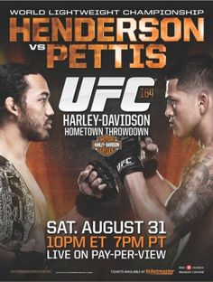 UFC Saturday August 31st Henderson vs Pettis 8:00 PM 3.00 Cover Call for Reservations Today 254-953-7412