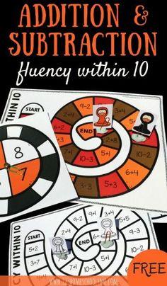 FREE Math Games - Math Fluency within 10