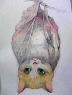 gatomurcierlago, ilustración de  Higuchi Yuko