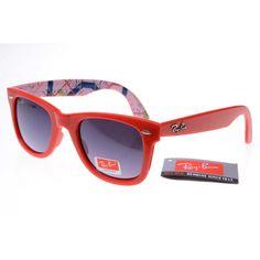 Red Ray Ban 2140 Wayfarer Sunglasses Discount Sale RWS08  $23.14