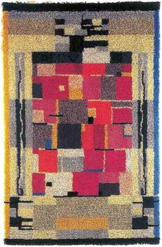 Wetterhoffin Hiilivalkea, design by? Rya Rug, Wool Rug, Carpet Design, Rug Hooking, Rugs On Carpet, Textiles, Quilts, Blanket, Cool Stuff