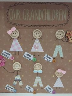 Your place to buy and sell all things handmade - This box frame would make a perfect keepsake gift for Grandparents. Craft Gifts, Diy Gifts, Art For Kids, Crafts For Kids, Scrabble Crafts, Button Cards, Family Crafts, Grandparent Gifts, Frame Crafts