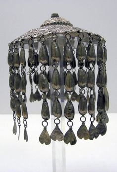 Kurdish headdress; silver and silver toned metal | 1st half of the 20th century.