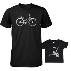 Bicycle And Tricycle Dad and Baby Matching Tshirts Cute Fathers Day Gift Ideas Baby Shirts, Family Shirts, Dad And Son Shirts, Matching Shirts, Matching Outfits, Cycling T Shirts, Dad Baby, Family Outfits, Family Clothes