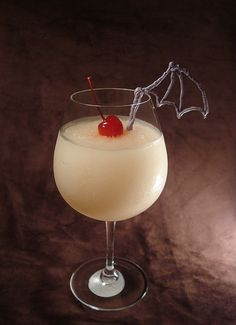 Frozen Moogle    Fill Blender with Ice  Then add:  ¼ cup vodka  ¼ cup triple sec  ¼ cup vanilla liqueur  1 cup grapefruit juice  Blend 'er    Top with Cherry and 1-2 Moogle Wings (May require innovation)    Looks fruity cause it is, kupo!