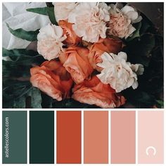 These stunning #fallcolors are so versatile, you could use them as #weddingcolors, #interiordesign colors, or to pull a great #fallloutfit together! Rustic orange and emerald green are going to be 🔥 for the 2019 fall season!
