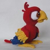 Chili the Parrot Amigurumi Crochet - via @Craftsy
