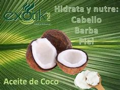 Aceite de Coco, nutre e hidrata el cabello haciéndole crecer.  Coconut oil, nourish and moisturize the hair, making it grow.