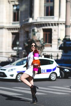 "The Best ""What IS She Wearing?"" Looks From Paris #refinery29  http://www.refinery29.com/2015/10/95202/paris-fashion-week-spring-2016-street-style-pictures#slide-38  What, you don't look like this crossing the street?..."