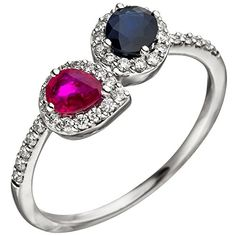 Heart Ring, Engagement Rings, Beautiful, Jewelry, Medium, Fashion, Jewels, Sapphire, Red