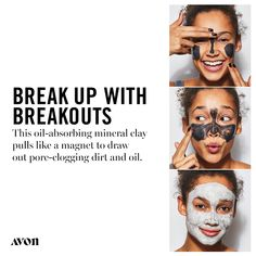 This pore-penetrating mask contains an oil-absorbing blend of mineral clay that attracts and effectively removes pore-clogging oil like a magnet. Vegan Alcohol, Acne Blemishes, Skin Mask, Avon Representative, Skin So Soft, Acne Treatment, Oily Skin, Clear Skin, Medium