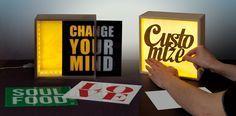 Lámpara de mesa / letra luminosa LIGHTHINK BOX by Seletti | diseño Selab   Studio Badini Createam