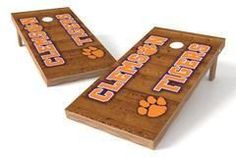 Clemson Tigers Single Cornhole Board - Vertical