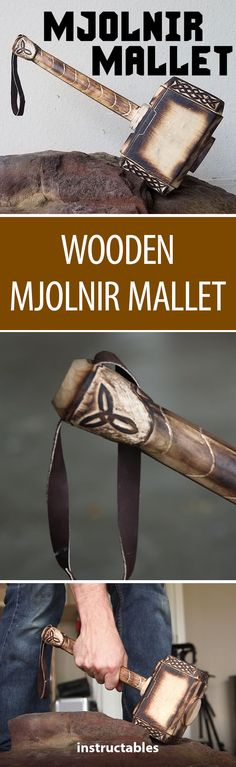 Wooden Mjolnir Mallet #woodworking #prop #Thor