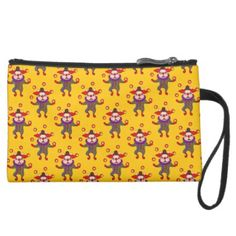 #Clown Dog Frenchie entertains you with his love Suede Wristlet Wallet - #Petgifts #Pet #Gifts #giftideas #giftidea #petlovers