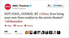 Not cool, cookie: AMC Theatres admonishes Oreo for bring-your-own-food Cinema tweet