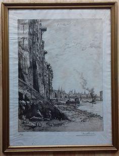 Bremen - bei der Wichelnburg - an der Weser (1912)
