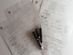 Reproducción de firmas para el manifiesto encabezado por Miguel de Unamuno.