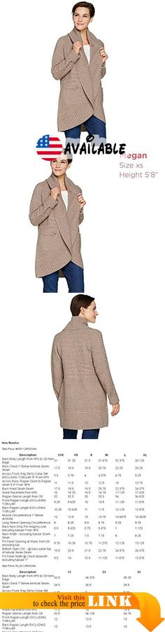 """B0741BR4P2 : Isaac Mizrahi 2-Ply Cashmere Mixed Stitch Cardigan Cuff Stone MARL M New A281339. Features: mixed stitch; long sleeves; shawl collar detail; ribbing at collar cuffs and hem; open front. Fit: relaxed fit; generously cut with maximum wearing ease. Length: missy length 31"""" to 33-1/8""""; plus length 33-1/2"""" to 35-1/4"""". Content: 100% cashmere. Care: hand wash dry flat"""