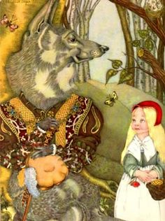 adrienne segur illustrations | Illustration by Adrienne Segur: Little Red Riding Hood and Wolf in the ...