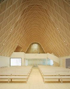 You can find this church and some other nice buildings designed by Alvar Aalto in Jyväskylä, Finland. Scandinavian Architecture, Timber Architecture, Church Architecture, Religious Architecture, Architecture Details, Architecture Interiors, Temples, Architecture Religieuse, Church Pictures