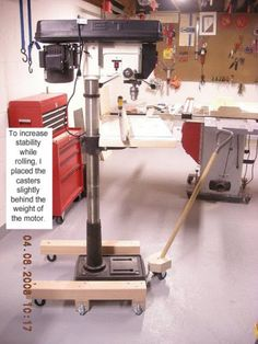 shop-made drill press mobile base | ideas | pinterest | drill