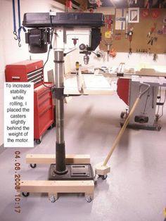 mobile base for floor standing drill press - the garage journal