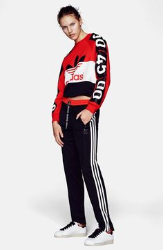 Topshop for adidas Originals Colorblock Sweatshirt available at #Nordstrom