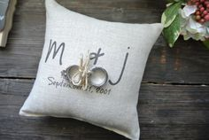 Personalized Ring Bearer Pillow Custom Ring by DecoratedRoom