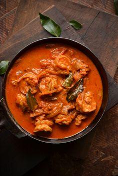 Kerala- Seafood Recipes Prawn Recipes, Veg Recipes, Curry Recipes, Seafood Recipes, Indian Food Recipes, Asian Recipes, Cooking Recipes, Ethnic Recipes, Kerala Recipes