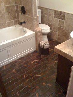 Endgrain Floor in Bathroom