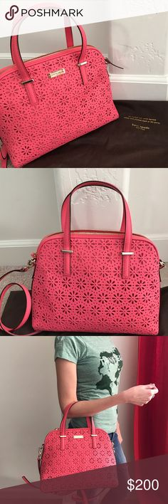 Selling this Kate Spade perforated bag on Poshmark! My username is: javanna16. #shopmycloset #poshmark #fashion #shopping #style #forsale #kate spade #Handbags