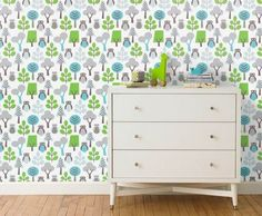 Cars Wallpaper from DwellStudio. Perfect for a little boy! | For