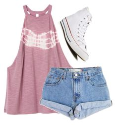 """""""All"""" by garaff ❤ liked on Polyvore featuring RVCA, Levi's and Converse"""