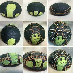 Turtle painting, turtle painted rocks и turtle rock. Turtle Painting, Pebble Painting, Pebble Art, Stone Painting, Painting Flowers, Stone Crafts, Rock Crafts, Arts And Crafts, Turtle Painted Rocks