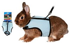 No matter what kind of super spiffy pet products you need, we've got you covered.  Here we have: a cute and functional harness for your rabbit!  Take them with you when you go out, have fun in the yard and wander around safely!