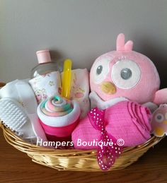 Baby girl gift hamper basket £25.00