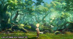 [화제작-크리스탈 하츠]'봄날'에 만난 동화같은 판타지! - 경향게임스 Environment Concept Art, Environment Design, Fantasy Forest, Art Story, Games Images, Map Design, Visual Development, Color Of Life, Pokemon